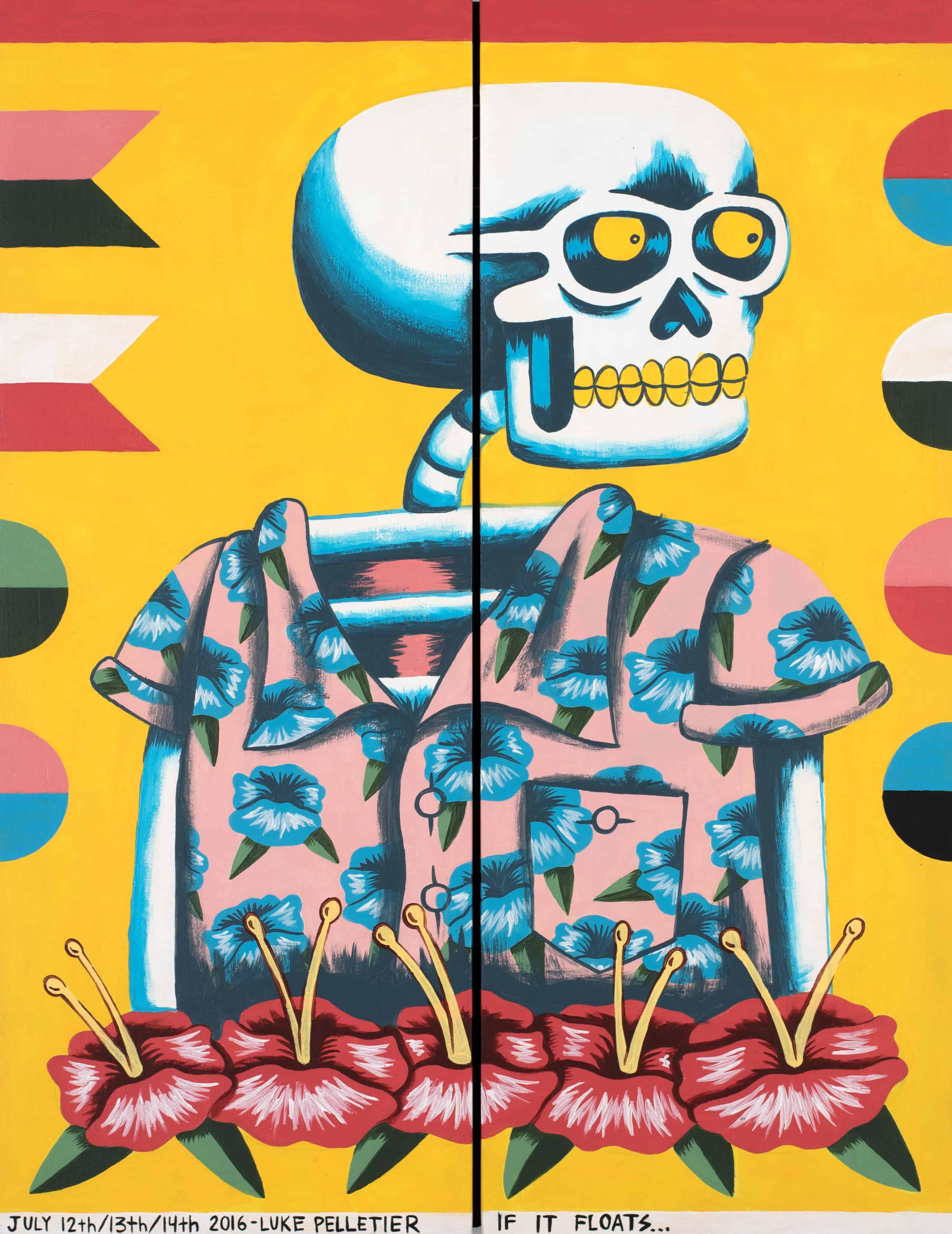 """""""Skeleton Dartboard"""" by Luke Pelletier"""